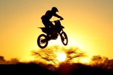 Mx track at sunset